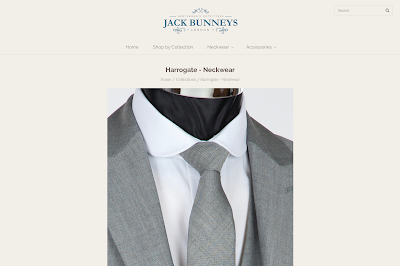 harrogate slim wedding suit tie from jack bunneys