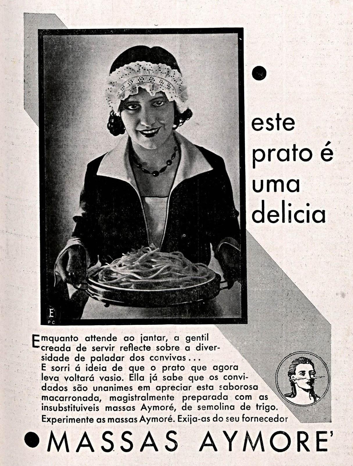 Propaganda antiga da Aymoré veiculada no começo dos anos 30 para promover sua linha de massas