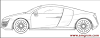 How to Draw Audi R8 Step by Step