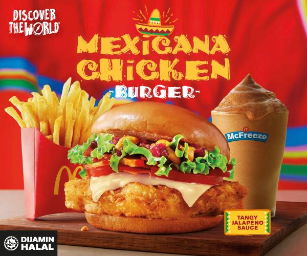 Burger Ayam Mexicana , Menu Baru McDonald's Malaysia