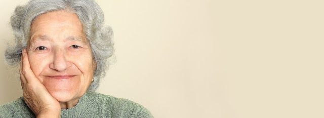 elderly woman considering senior home care services