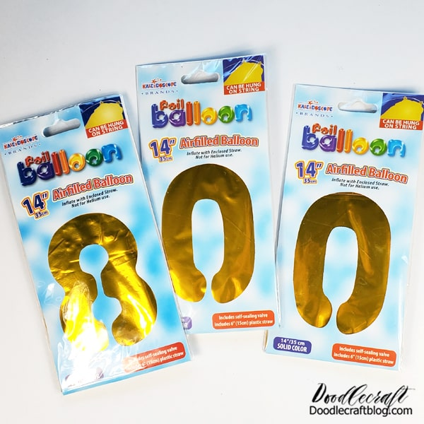 """How to Paint Loose Florals on Mylar Letter Balloons: Add some big loose florals to mylar balloons to set the scene of the party!  Yes, this says 800, but be creative and buy number balloons and make them work for your party. Anyone who commented on them got a blank stare and response """"it says BOO""""."""