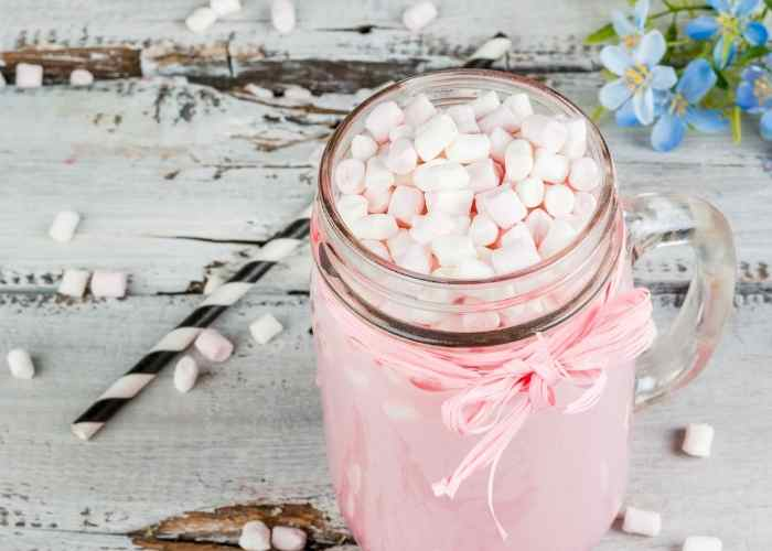 Pink Hot Chocolate Recipe for Valentine's Day