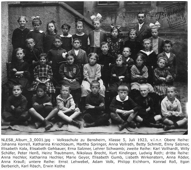 BIAB NLESB_Album_3_0001.jpg Volksschule zu Bensheim 5. Juli 1923, Nachlass Egon Stoll-Berberich