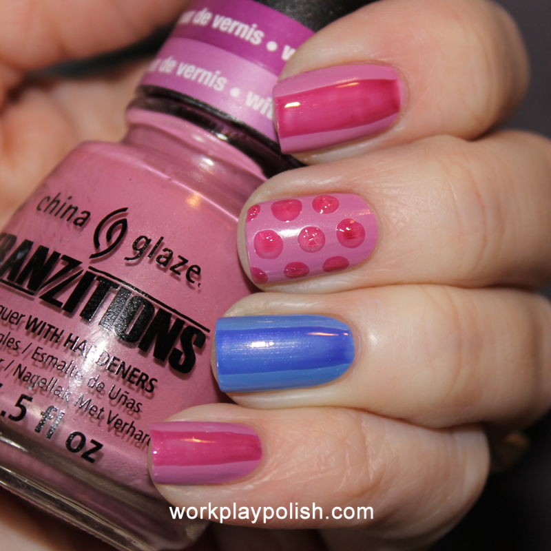 China Glaze Tranzitions: Split Perso-Nail-ity and Modify Me (work / play / polish)