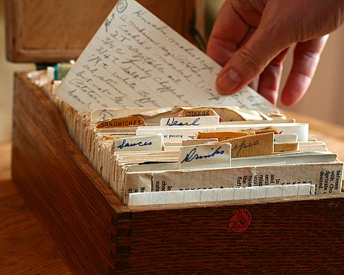 My grandmother's recipe box, left untouched in a basement for more than 25 years.