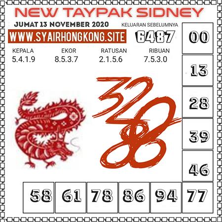 Prediksi New Taypak Sydney Jumat 13 November 2020