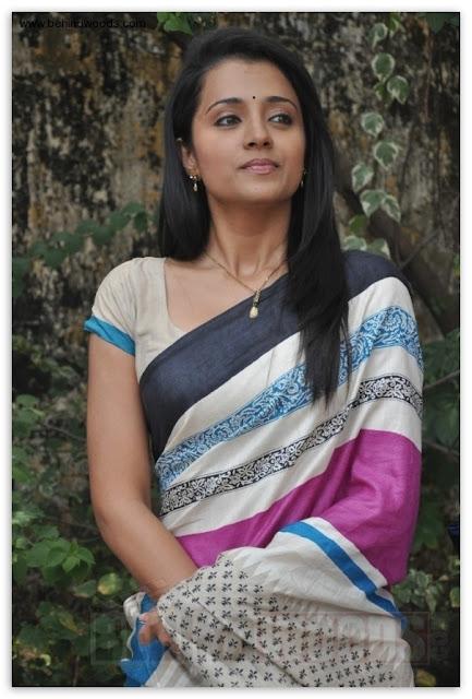 Trisha Krishnan Sexy Photos in  Saree