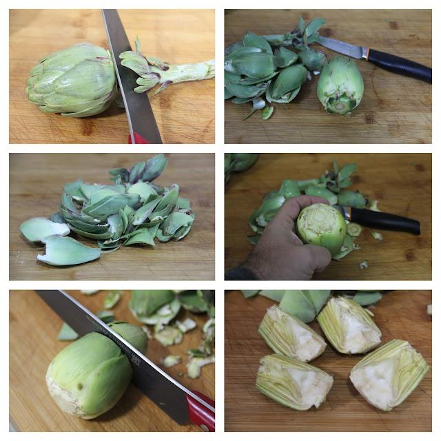 Cómo limpiar alcachofas pakus