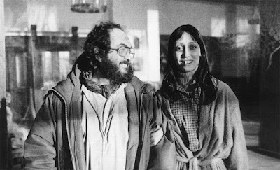 Stanley Kubrick y Shelley Duvall. The Shining
