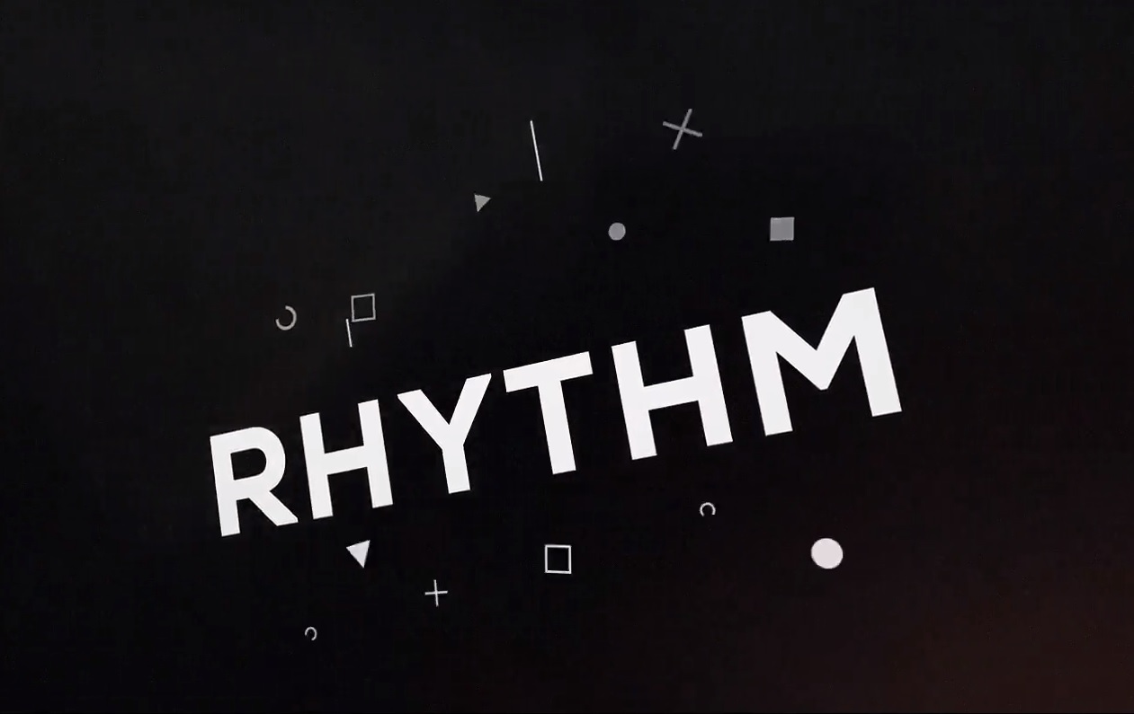 3D Rhythm Typography Intro