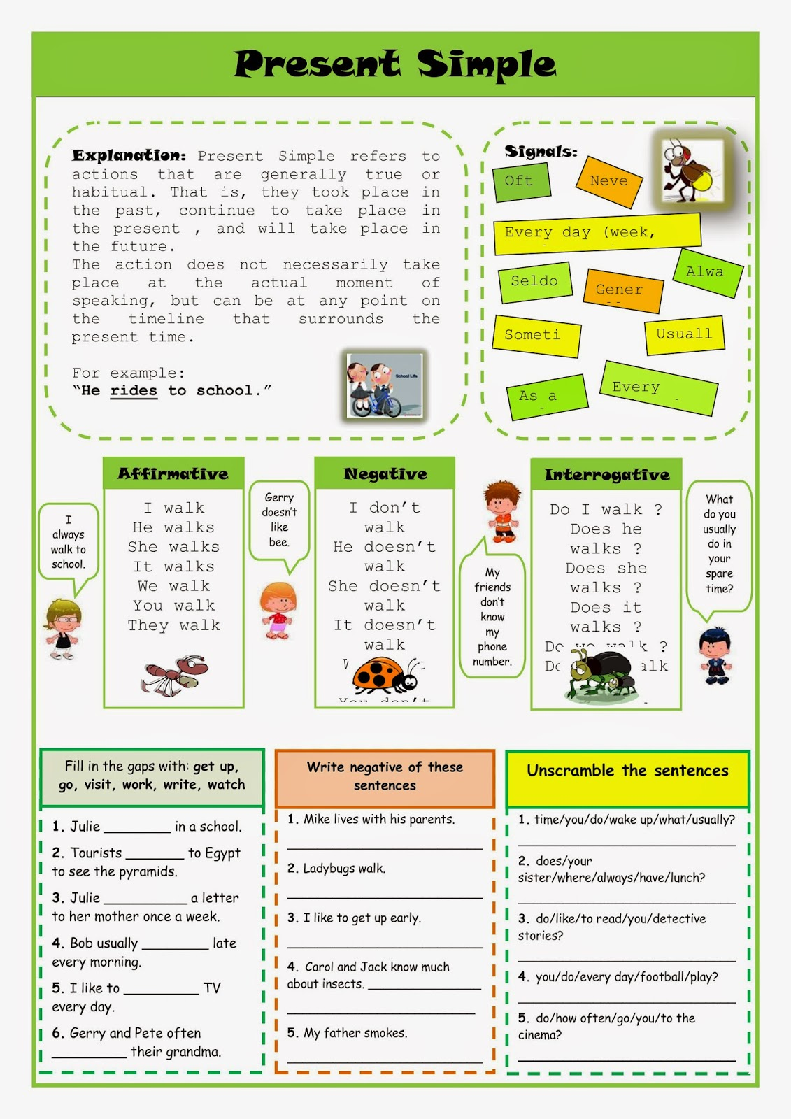 Give Me English!: TASK 2 - Set of Worksheets for A2 Students