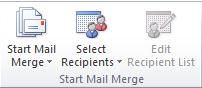 fungsi grup start mail merge pada tab mailling