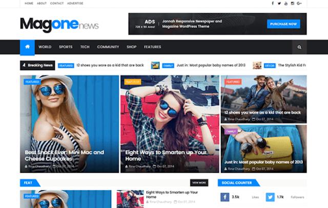Responsive News & Magazine Blogger Template - Free Blogger Templates-MagOne