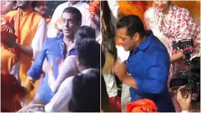 Salman Khan Dance at Ganpati Visarjan video viral on social media