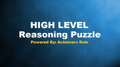 High Level Reasoning Puzzles for IBPS PO