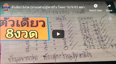 Thailand lottery exclusive community tips magazine 16 September 2019