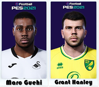PES 2021 Faces Marc Guehi & Grant Hanley by Shaft