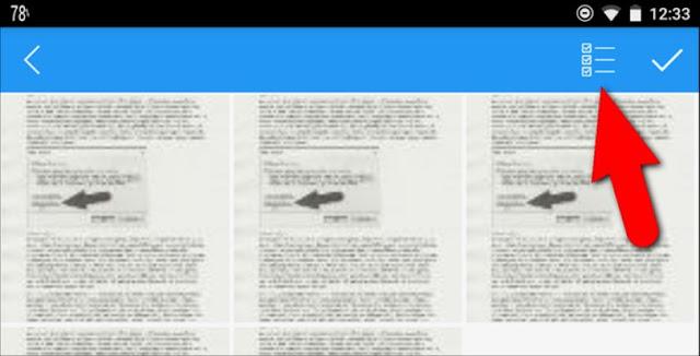 اختيار كل الصور التي تريد تحويلها الى pdf