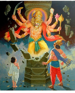 Picture of Narasimha Avatar of Lord Vishnu