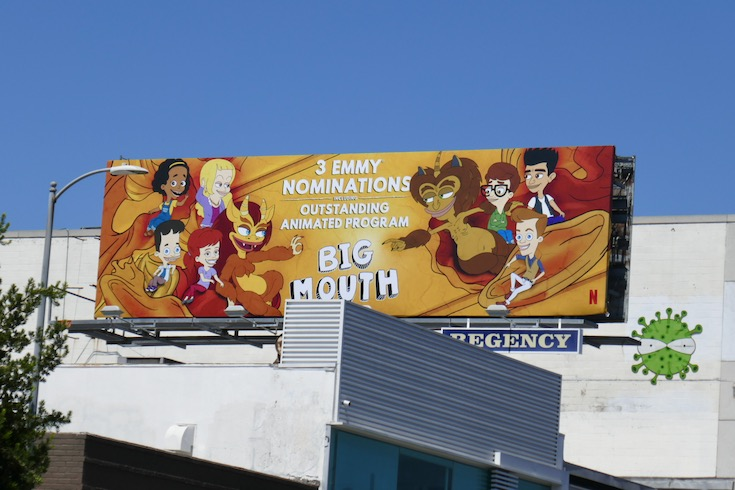 Big Mouth 2020 Emmy nominee billboard