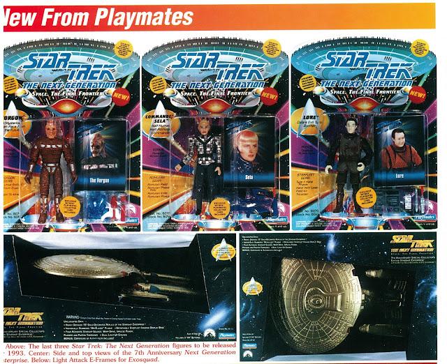 Star Trek The Next Generation Prototype Action Figure Playmates Toy Fair Playmates