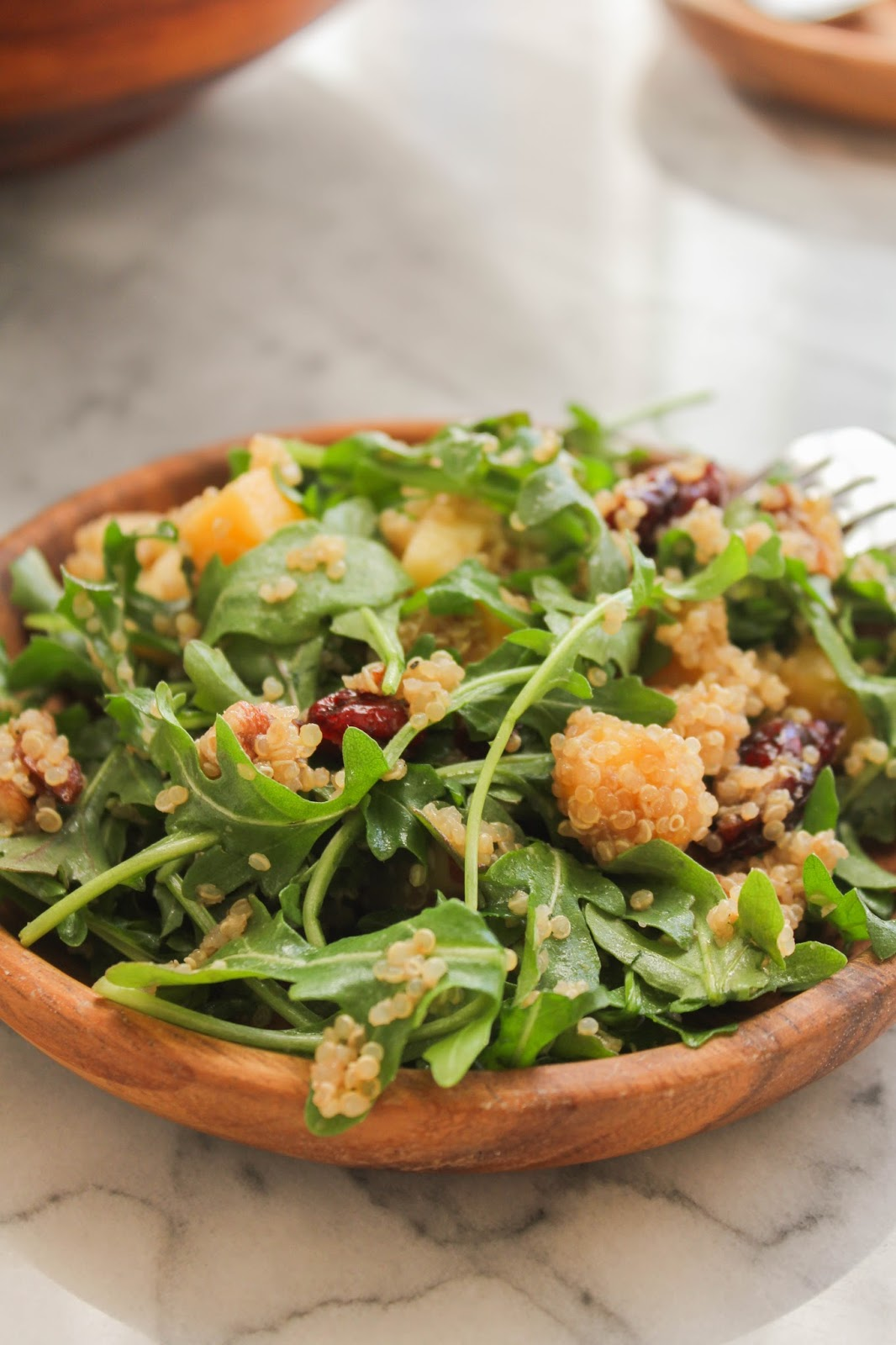 Quinoa Salad with Nuts, Fruit and Greens