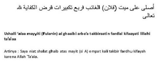 Niat Sholat Mayyit Ghoib