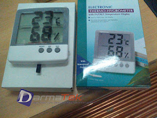 Darmatek Jual AZ HT-03 Big Display Thermo-Hygrometer with external probe