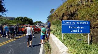 Acidente entre Palmeiras e Lençóis