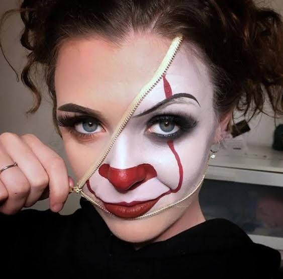 Half clown Makeup ideas