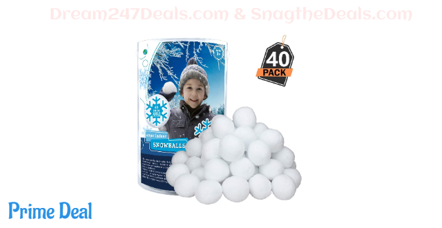 50% OFF Indoor Snowball Fight--40 Pack