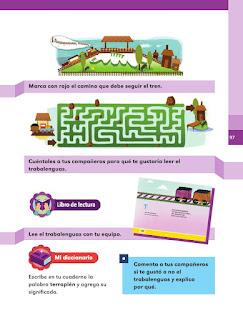 "Apoyo Primaria Español 1er grado Bimestre 3 lección 9 Trabalenguas con ""t"" de..."