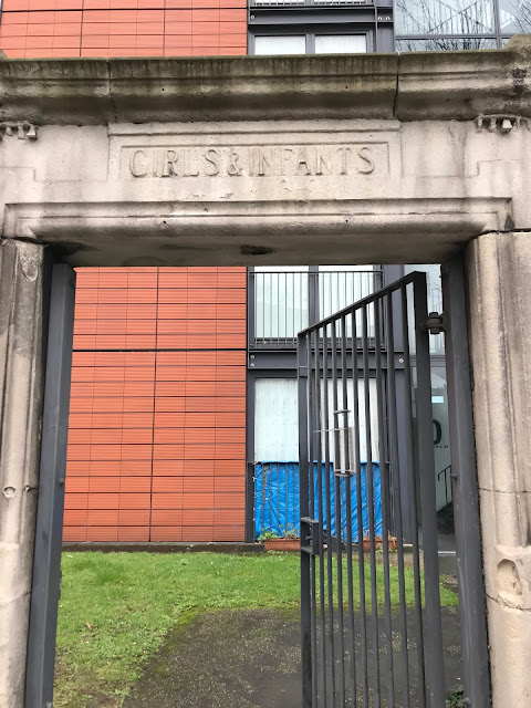 Girls & Infants entrance to former school, Lillie Road, London