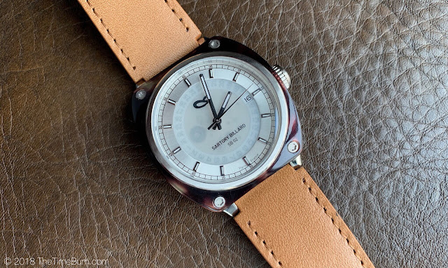 Sartory Billard SB-02 white dial brown acetate bezel