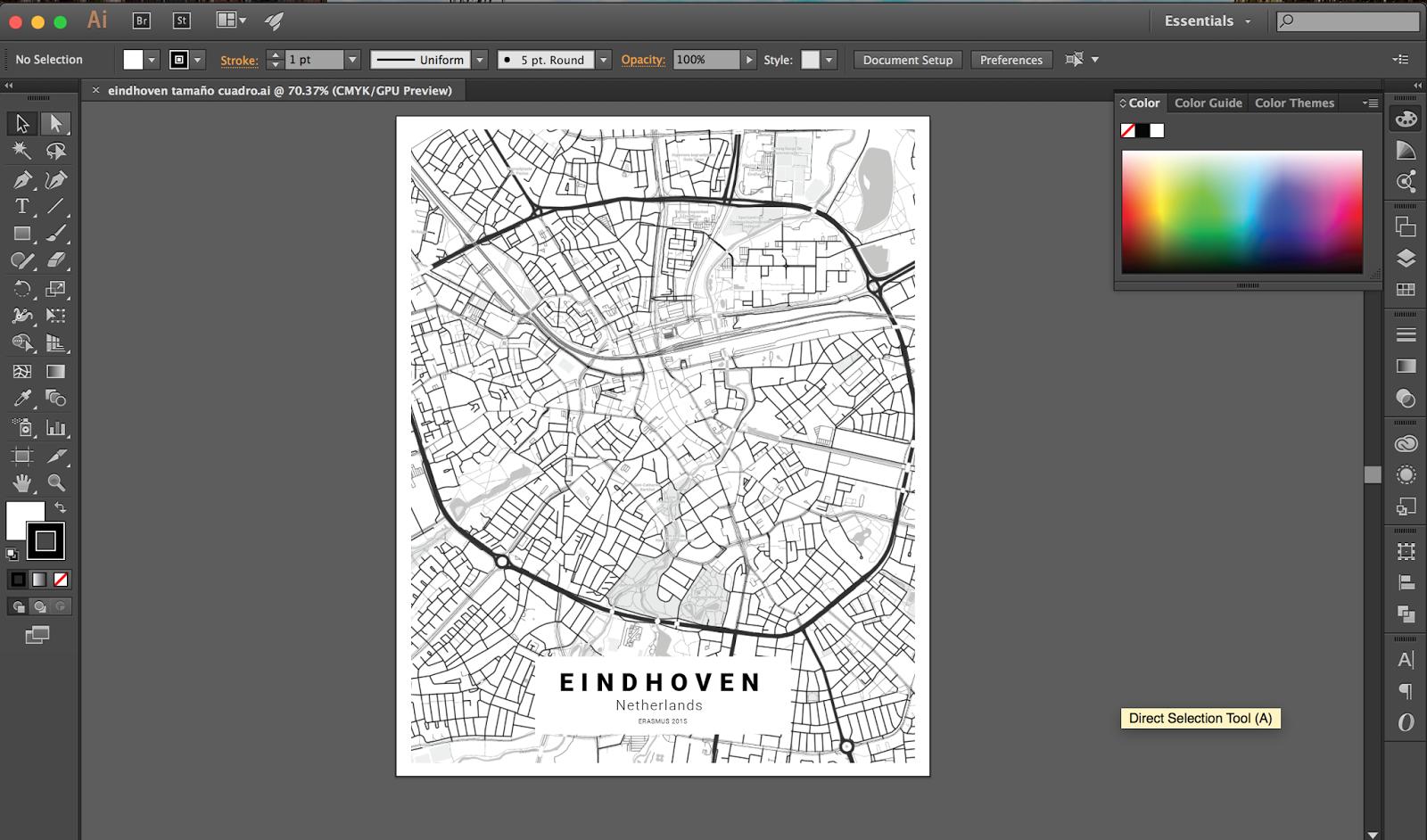 customizable city map poster