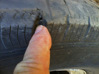 Michelin Tire near blowout