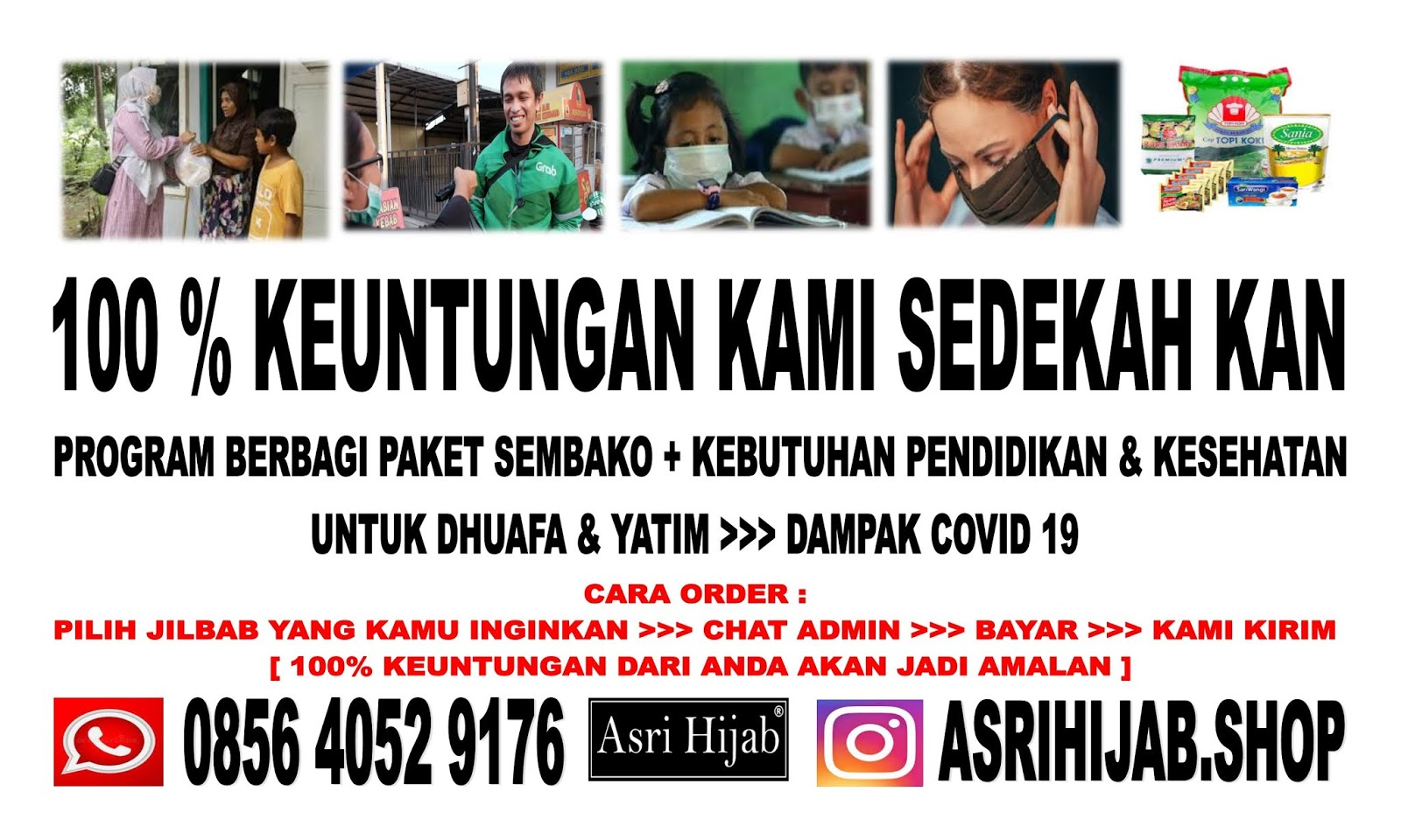 Program Berbagi Keuntungan 100% Hasil Penjualan Jilbab Semarang