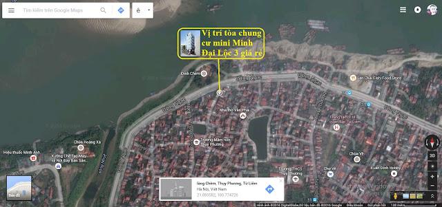 Vị trí tòa chung cư mini Minh Đại Lộc 3 giá rẻ nhất Hà Nội