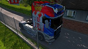 Serbia skin for Scania Streamline