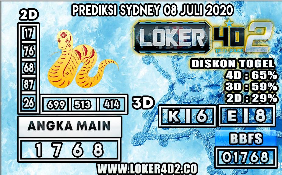 PREDIKSI TOGEL SYDNEY LOKER4D2 08 JULI 2020