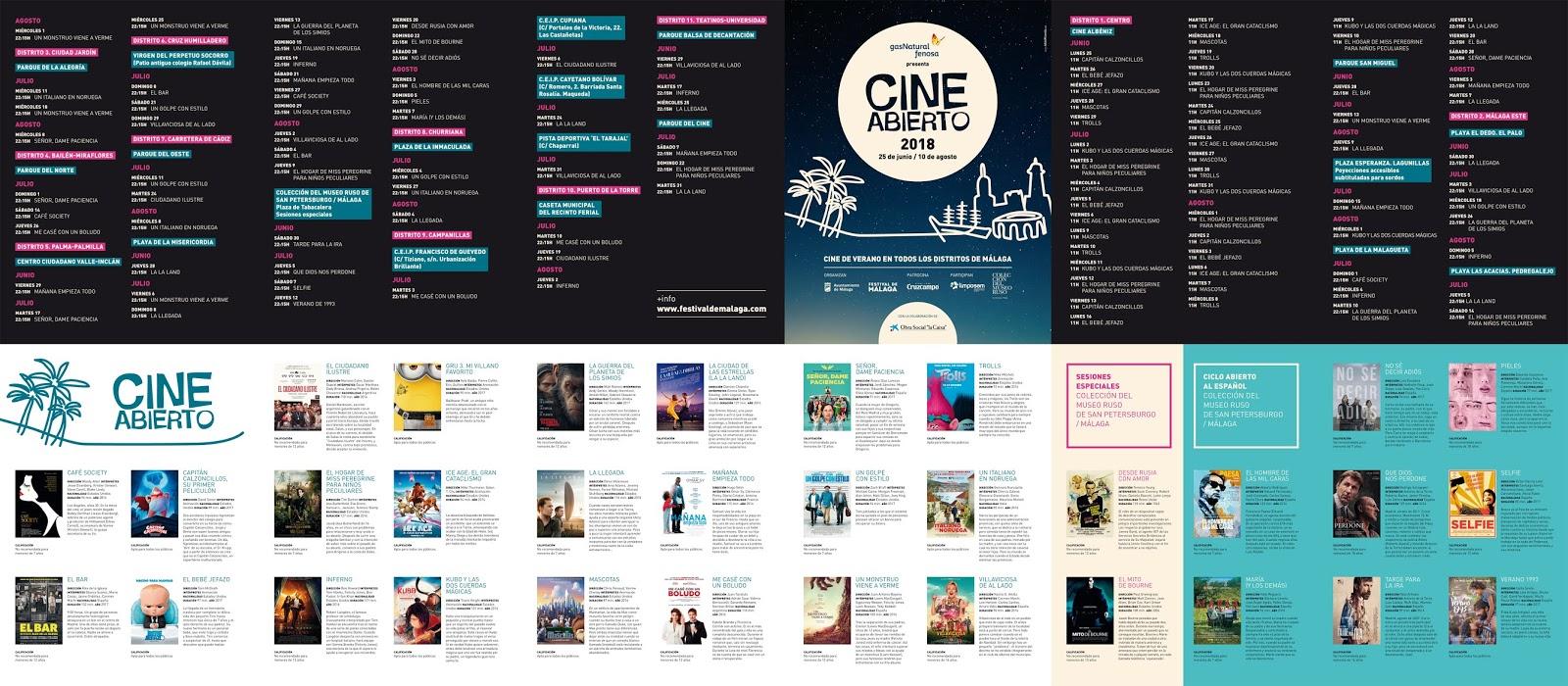 Buenas Noticias Málaga El Cine De Verano De Málaga En Las Playas Y Los Barrios Ya Tiene Cartelera