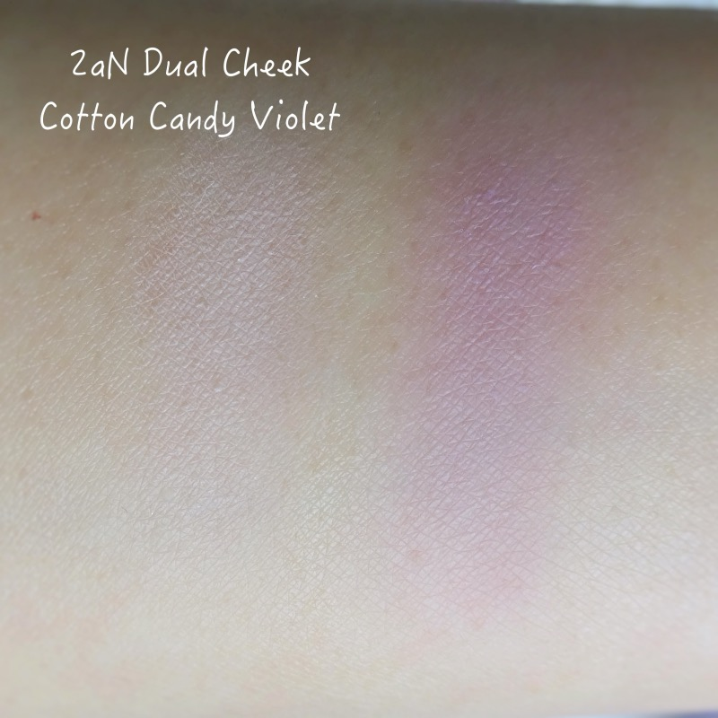 2aN Dual Cheek Cotton Candy Violet swatches