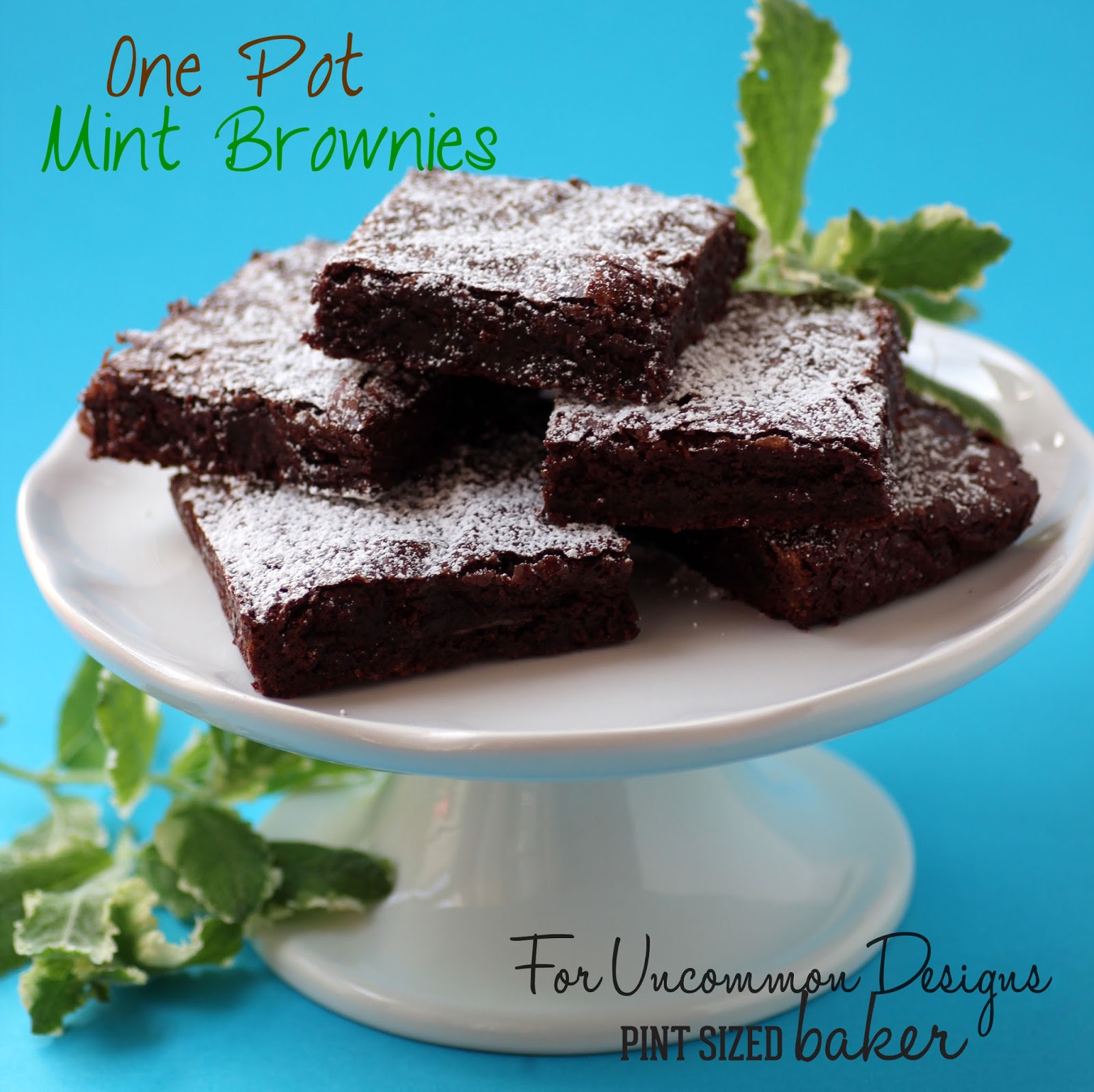 chocolate mint fudgy brownies pint sized baker