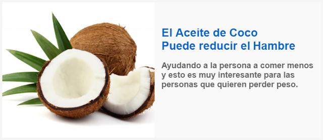 El Aceite de Coco Puede reducir el Hambre
