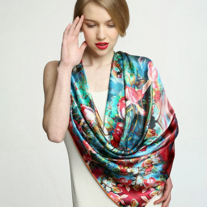 Winter Clothes for Lady: Silk Scarves & Shawls for This Season