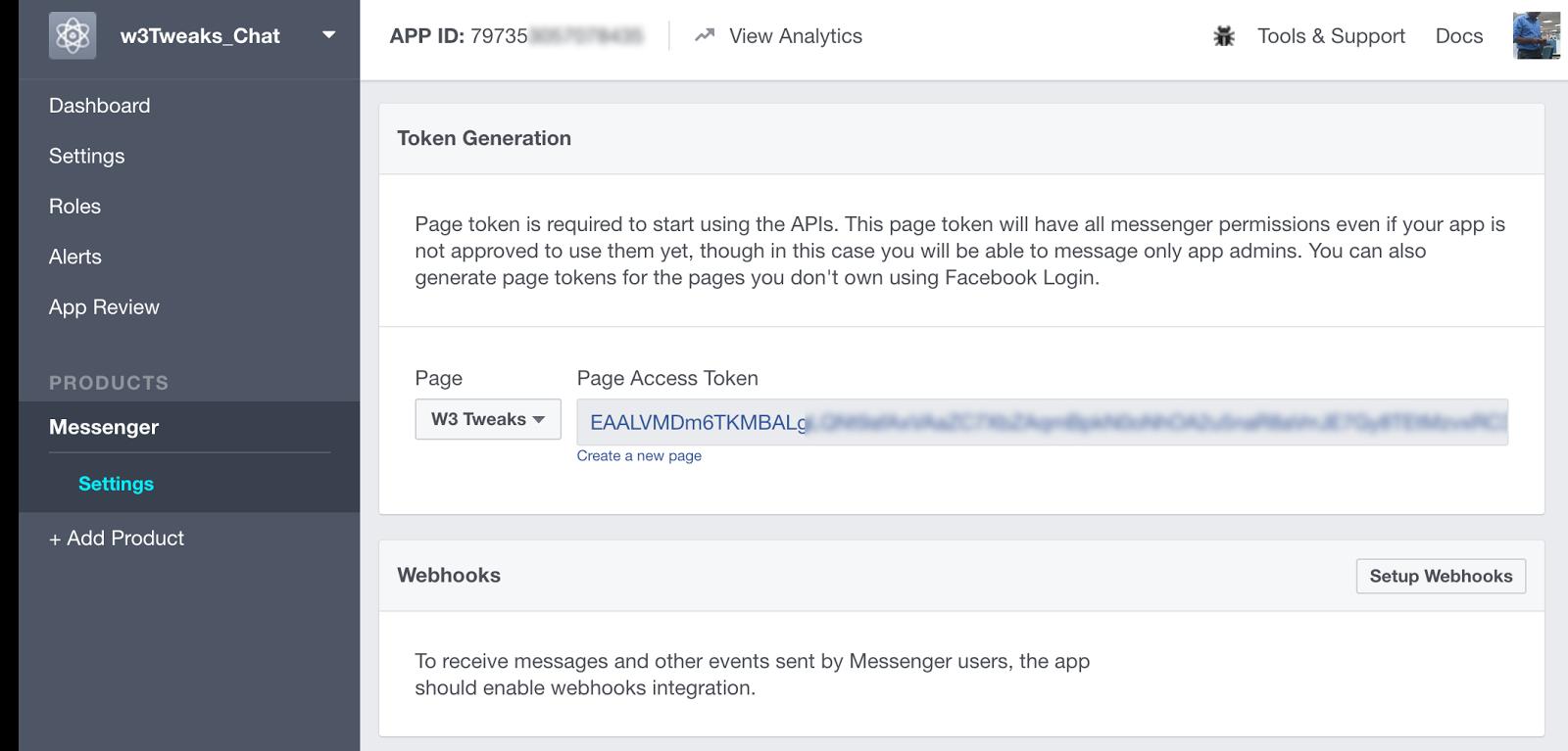 Messenger Facebook for Developers