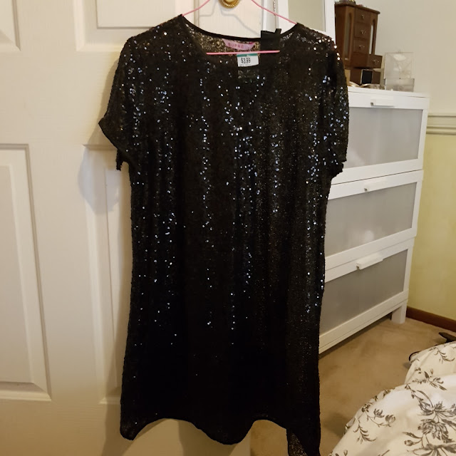 Supre black sequinned shift dress | Almost Posh