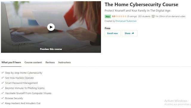 [100% Free] The Home Cybersecurity Course
