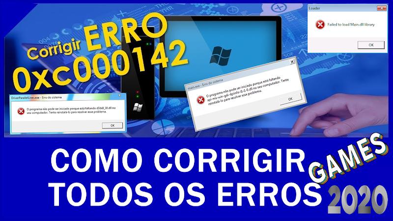 Como Resolver Todos Erros em Jogos em todos os Windows 2020 Download Grátis